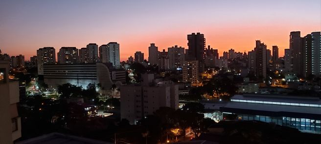 Pôr do sol em Santo André-SP