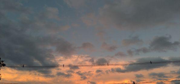Fim de tarde em Curitiba Paraná muito frio na cidade