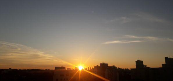 Sol se despedindo.
