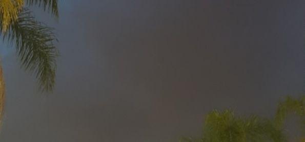 Fim de tarde nublado em Brasília