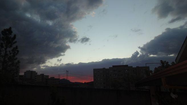 Belo começo de noite em Poços de Caldas.. MG.