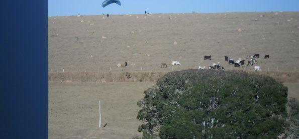 Decolagem de paraglider.