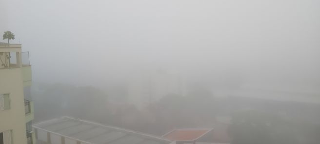 Forte neblina em Santo André SP