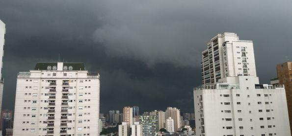 Nuvens carregadas - São Paulo se preparando para a chuva