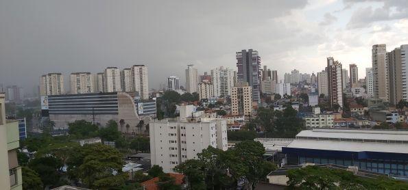 Chuva forte em Santo André SP