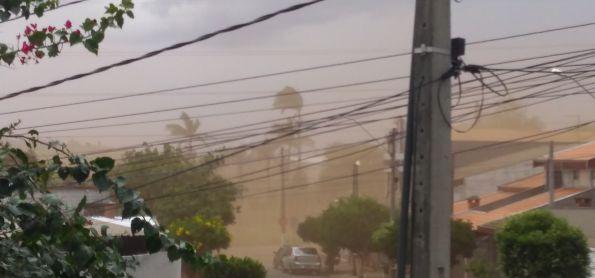 Ventos fortes indo pra Campinas e São Paulo daqui do interior