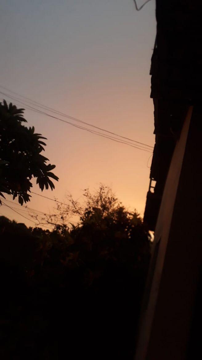 céu depois da chuva