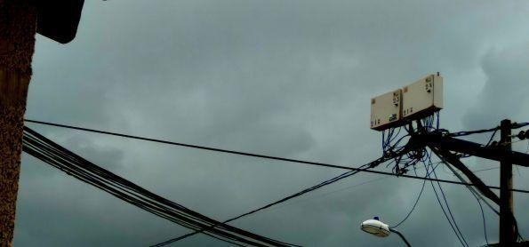 Nuvens carregadas passando por Fortaleza (CE)
