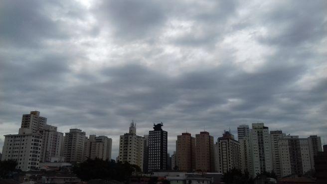 Dia nublado e com chuva em São Paulo!