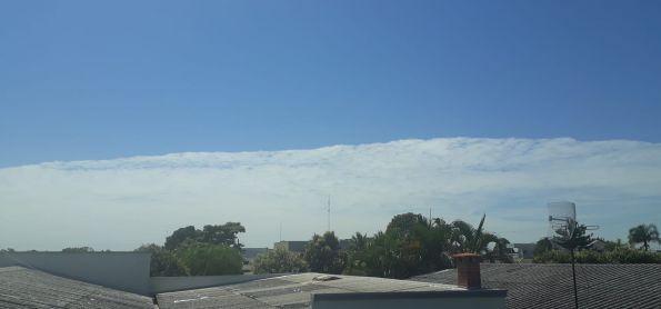 Nuvens raras na cidade de Vilhena