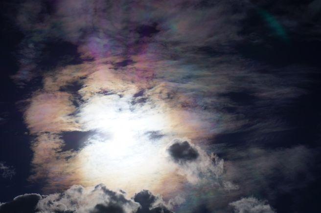 Lindo arco íris de fogo sobre Taquaralto região sul de Palmas TO