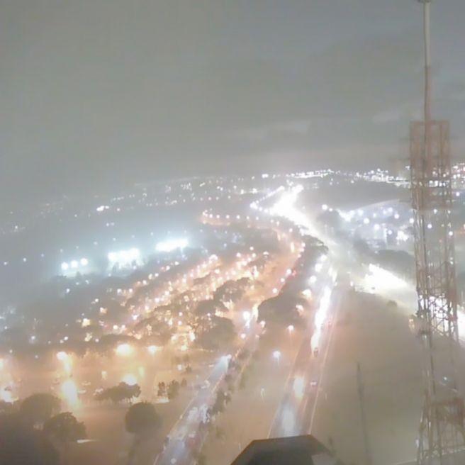 Chuva forte na região central de Brasília