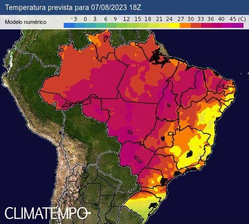 mapa de calor e frio